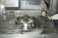Cover Plate being machined on Mazak VTC 300